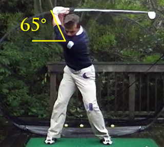 Somax Golfer David Huertas Arm Angle top of Backswing Before