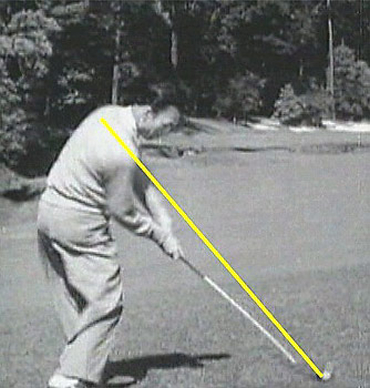 Ben hogan at Impact